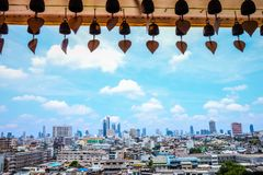 Paesaggio urbano Bangkok Tailandia fotografie stock