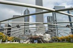 Paesaggio urbano in Chicago in autunno immagini stock