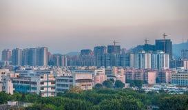 Paesaggio urbano cinese vecchio e nuovo Fotografia Stock Libera da Diritti