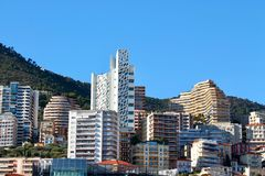 Paesaggio urbano citt? nel Monaco, Monaco fotografia stock