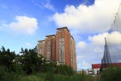 Paesaggio urbano (comunità vivente) fotografia stock