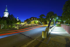 Paesaggio urbano con il cke del ¼ di Friedrichsbrà in Ettlingen Immagine Stock Libera da Diritti
