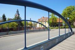 Paesaggio urbano con il cke del ¼ di Friedrichsbrà in Ettlingen Fotografia Stock