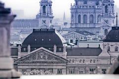 Paesaggio urbano con la basilica di St Stephen, Budapest, Ungheria Immagini Stock