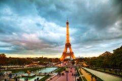 Paesaggio urbano con la torre Eiffel Fotografia Stock