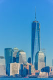 Paesaggio urbano con New York Un World Trade Center Fotografie Stock