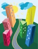 Paesaggio urbano contemporaneo Immagini Stock Libere da Diritti