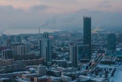 Paesaggio urbano da un'altezza Fotografia Stock