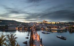 Paesaggio urbano del castello di Praga fotografia stock