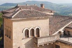 Paesaggio urbano del centro del San Marino Città Vecchia Fotografia Stock Libera da Diritti