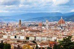 Paesaggio urbano del centro della città di Firenze in autunno Immagine Stock Libera da Diritti