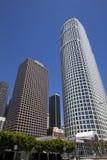 Paesaggio urbano del centro delle costruzioni di Los Angeles Immagini Stock Libere da Diritti