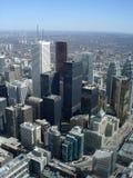 Paesaggio urbano del centro di alto angolo di Toronto Fotografia Stock Libera da Diritti