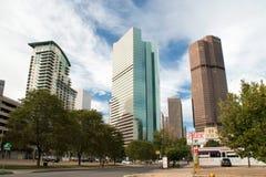 Paesaggio urbano del centro di Denver Immagine Stock Libera da Diritti