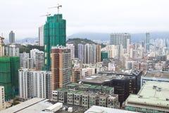 Paesaggio urbano del centro di Hong Kong Immagini Stock Libere da Diritti