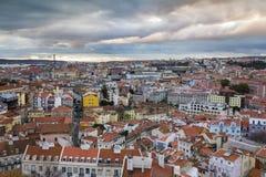 Paesaggio urbano del centro di Lisbona fotografia stock