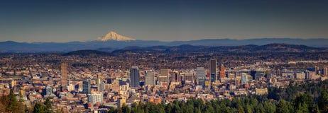 Paesaggio urbano del centro di Portland Fotografia Stock