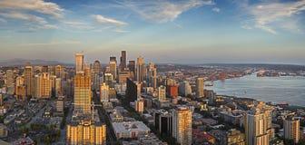 Paesaggio urbano del centro di Seattle fotografie stock libere da diritti