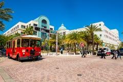 Paesaggio urbano del centro di West Palm Beach immagini stock libere da diritti