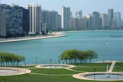 Paesaggio urbano del Chicago Fotografie Stock Libere da Diritti