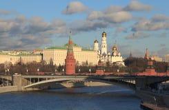 Paesaggio urbano del Cremlino di Mosca. Immagine Stock