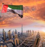 Paesaggio urbano del Dubai con architettura futuristica moderna, Emirati Arabi Uniti Immagini Stock
