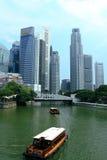 Paesaggio urbano del fiume di Singapore Fotografia Stock Libera da Diritti