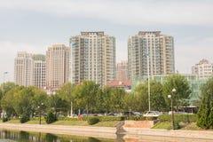 Paesaggio urbano del inTianjin delle costruzioni, Cina Immagini Stock Libere da Diritti