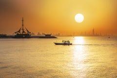 Paesaggio urbano del Kuwait immagini stock