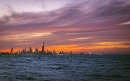 Paesaggio urbano del Kuwait fotografie stock