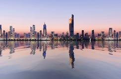 Paesaggio urbano del Kuwait fotografia stock