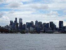 Paesaggio urbano del lago e di Seattle union Immagini Stock Libere da Diritti