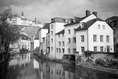 Paesaggio urbano del Lussemburgo Fotografia Stock