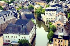 Paesaggio urbano del Lussemburgo Fotografia Stock Libera da Diritti