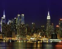 Orizzonte di New York dell'Empire State Building Immagine Stock Libera da Diritti