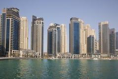 Paesaggio urbano del porticciolo della Doubai Immagine Stock Libera da Diritti