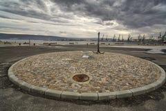 Paesaggio urbano del porto marittimo di Varna Fotografia Stock Libera da Diritti