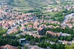 Paesaggio urbano del San Marino Fotografia Stock Libera da Diritti