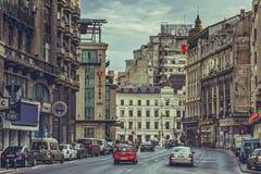 Paesaggio urbano del viale, Bucarest fotografia stock libera da diritti