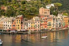 Paesaggio urbano del villaggio di Portofino - Genova Liguria Italia fotografia stock