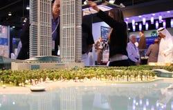 Paesaggio urbano dell'Abu Dhabi fotografie stock libere da diritti