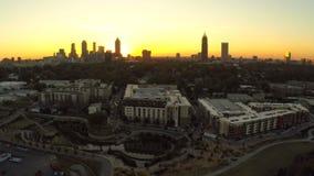 Paesaggio urbano dell'antenna di Atlanta stock footage