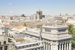 Paesaggio urbano dell'antenna di Madrid. Fotografia Stock Libera da Diritti