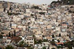 Paesaggio urbano dell'orizzonte di Gerusalemme Fotografia Stock