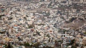Paesaggio urbano dell'orizzonte di Gerusalemme Fotografia Stock Libera da Diritti