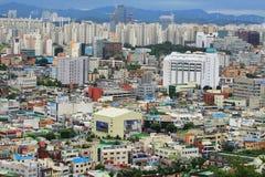 Paesaggio urbano della città della Corea Suwon Immagine Stock