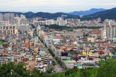 Paesaggio urbano della città della Corea Suwon Fotografia Stock