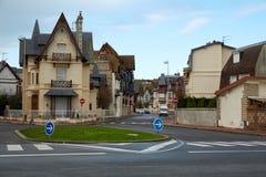 Paesaggio urbano della città di Deauville Immagine Stock Libera da Diritti