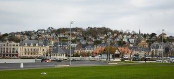 Paesaggio urbano della città di Deauville Immagini Stock Libere da Diritti