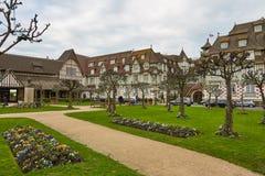 Paesaggio urbano della città di Deauville Fotografie Stock